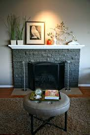 painted how we did mom dads with fireplace brick a shade or two darker than stacked