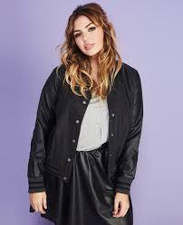 wet seal faux leather varsity jacket