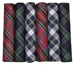 ETHO 6 Pack <b>Mens</b> Boxed 100% Cotton <b>Tartan Handkerchiefs</b> at ...