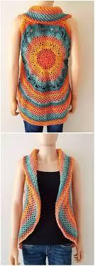 Crochet Mandala Vest Pattern Free Awesome Decorating