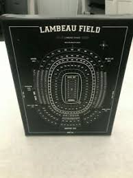 Details About 8x10 Print On Canvas Of Lambeau Field Seating Chart Wood Frame Wall Art Packers