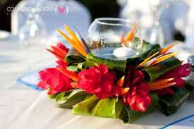 tall arrangements centerpieces tropical table centerpiece