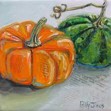 Small Pumpkin Painting Small Wonders Daily Paintings By Polly Jones A Pumpkin And Squash