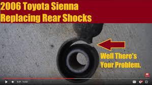 2006 Toyota Sienna - Replacing Rear Shocks - YouTube