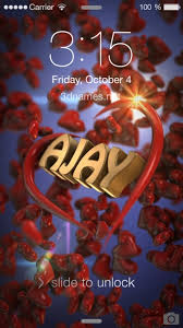 preview of hearts for name ajay