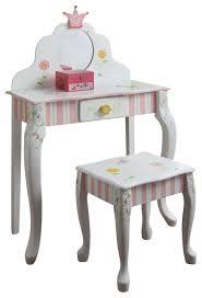 girls bedroom vanity. teamson design princess and frog girls vanity table stool set traditional-kids-bedroom bedroom g
