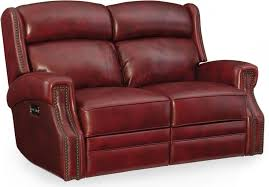 carlisle red leather power reclining loveseat with power headrest main image
