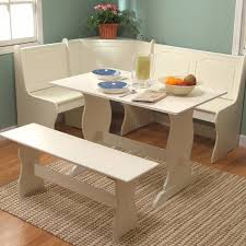 corner booth furniture. Brilliant Corner White Dining Breakfast Nook Set Corner Booth Bench Table Seat Kitchen  Furniture On T