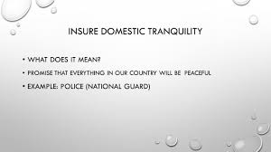 Ensure Domestic Tranquility Insure Domestic Tranquility Examples Softland