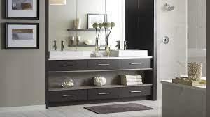 Modern Walnut Bathroom Vanity Omega Cabinetry