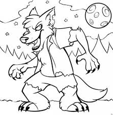 Small Picture Halloween Monster Coloring Pages Halloween Coloring Page