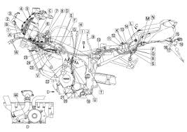 yamaha fz6 wiring harness and cable routing diagram 2004