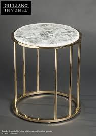 round side table with hyaline quartz giuliano tincani