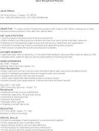 Hair Salon Receptionist Resume Resume For Salon Receptionist Omarbay Brianstern Co