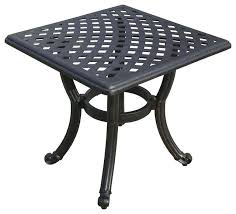 patio side table 3 round metal