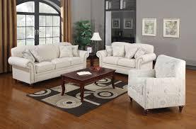 Living Room 3 Piece Sets 3 Piece Oatmeal Linen Fabric Sofa Set