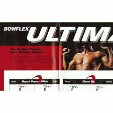 Bowflex Ultimate Exercise Wall Chart Brand New Bowflex Ultimate Xtlu Poster Exercise Guide