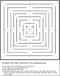 3D paper Christmas tree paper craft tutorial with printable