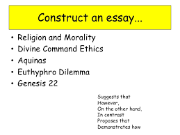 critiques of the relationship between religion and morality 3 construct an essay