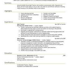 Best Teacher Resume Example Livecareer For It Professional