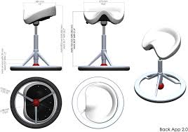 office chair drawing. Contemporary Chair Technical Drawing For Back App 20 1010A Office Chair Without Wheels And
