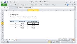 excel functions how to use the excel not function exceljet