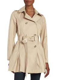 double ted trench coat michael michael kors