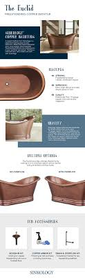 Tub You Sinkology Euclid 6 Ft Handmade Pure Solid Copper Freestanding