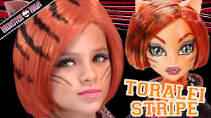 tei stripe monster high doll costume makeup tutorial for or cosplay