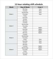 Week Hour Schedule Template 8 Hour Schedule Template