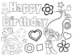 Happy Birthday Printable Coloring Pages At Getcoloringscom Free