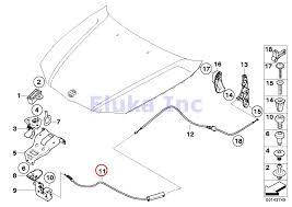 Amazon bmw genuine engine mechanism hood release cable cable to hood locks x1 28i x1 28ix x1 35ix 323i 325i 325xi 328i 328xi 330i 330xi 335i 335xi m3