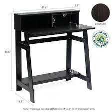 espresso desk with hutch espresso wall mounted desk hutch