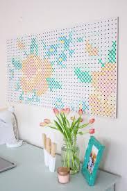 diy wall decor. DIY Painted Criss Cross Stitch Art (via Prettylifegirls.com) Diy Wall Decor