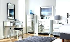 mirrored glass bedroom furniture set black bed