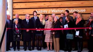 Ribbon cutting ceremony for Audrey J. Walton Clubhouse - YouTube