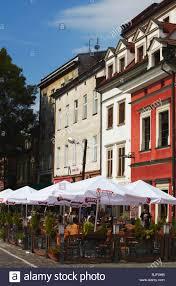 Outdoor restaurants in kazimierz district krakow poland