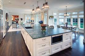 striking large kitchen islands with breakfast bar and black