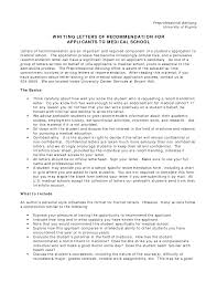 how to write a recommendation letter for medical school medical school letter of recommendation how