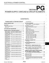 2010 nissan cube power supply ground circuit elements 2010 nissan cube power supply ground circuit elements section pg 104 pages
