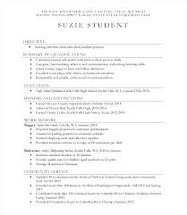 High School Resume Format For College Application Sample High School
