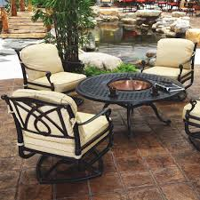 unique garden furniture. Unique Garden Furniture Fire Pit Set Table With S