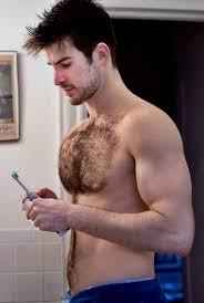 Hairy chest stud muscle