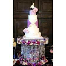 chandelier cake stand acrylic crystal wedding square 3 tier dessert centerpieces