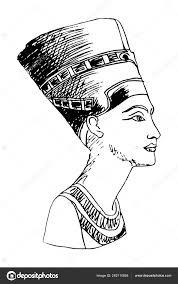 египетской царицы нефертити векторное изображение Migfoto