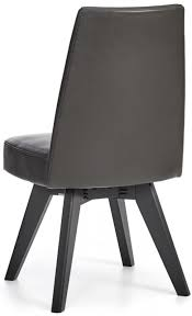 bentley designs brunel swivel dining chair grey bonded leather upholstered pair