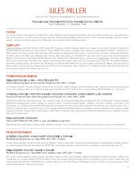Jules Miller PRODUCTION Resume. JULES MILLER (646) 256-7050 ...