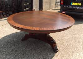 huge round antique dining table 6ft round regency manner mahogany dining table to seat 10 people