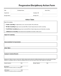 Employee Disciplinary Action Form Magnificent Discipline Form Template Disciplinary Action Word Forms Best Of