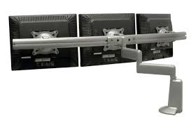 chief dual arm desk mount triple monitor arms